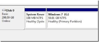 abrir partição oculta, sistema reservado, windows 7