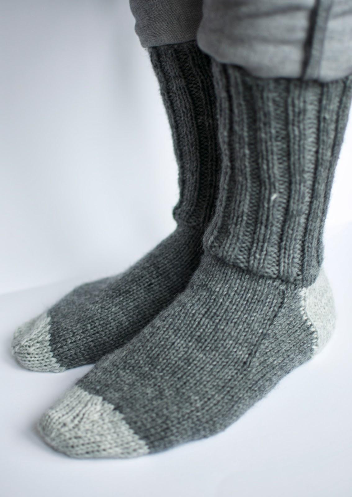 mönster till stickade sockor
