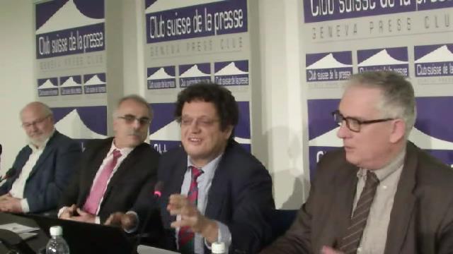 Riadh Sidaoui au Club Suisse de la presse: le drame syrien: ejeux, terrorisme et interventions.