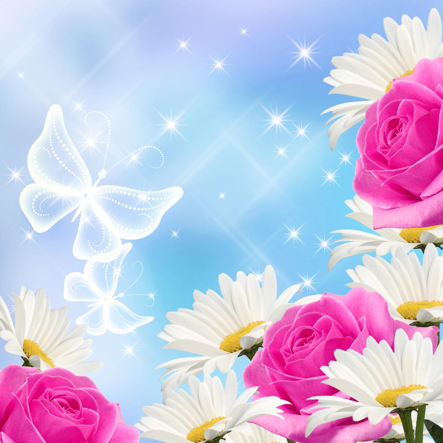 Banco de im genes 15 ilustraciones animadas de flores - Para ver fotos ...