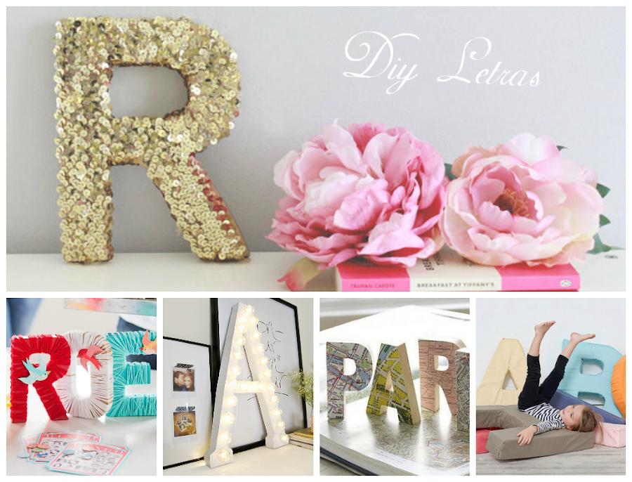Letras con flores - Letras de decoracion ...