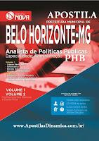 Apostila Prefeitura PBH MG Analista de Políticas Públicas. em 2 Volumes.