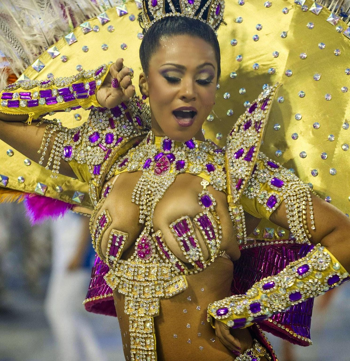 Model Bahian Woman In Traditional Dress At The Pelourinho District Salvador