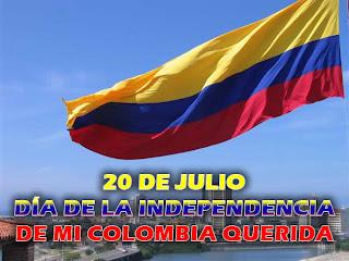 Día de la independencia de Colombia 20 de Julio