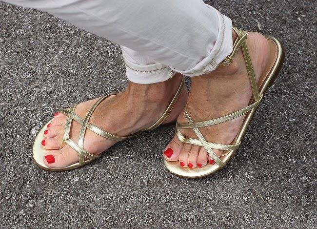 jcrew gold sandals