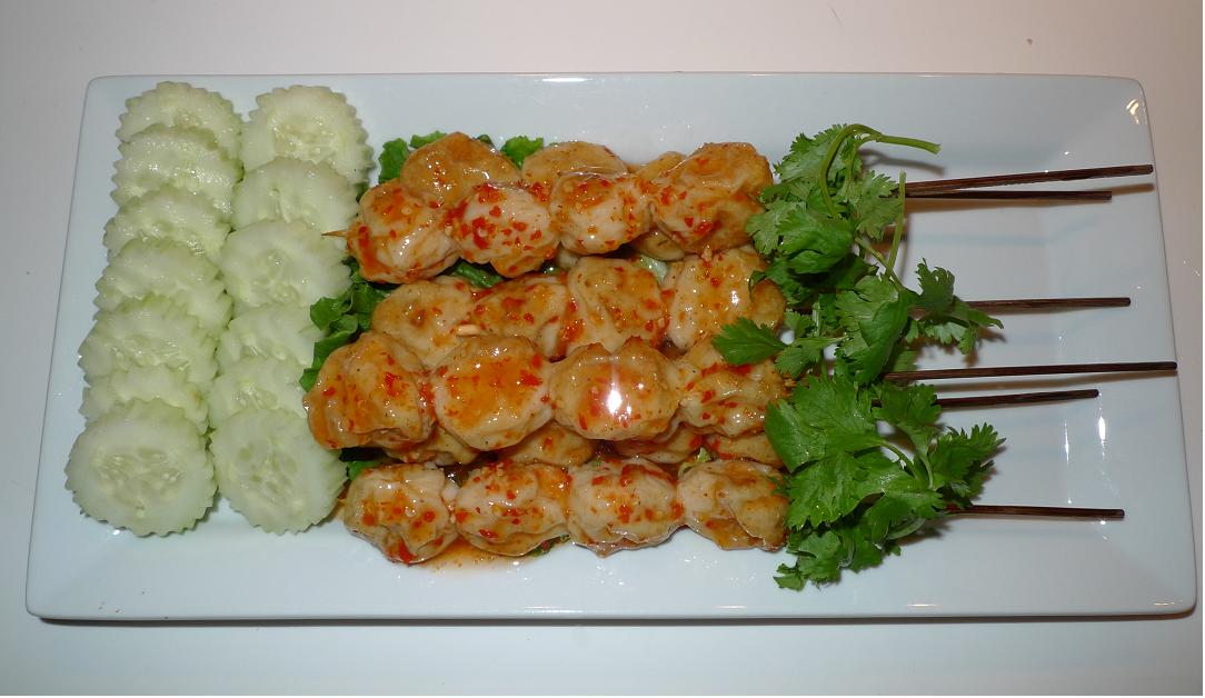 ... Thai Kitchen: Grilled fish balls with thickened sweet and sour sauce