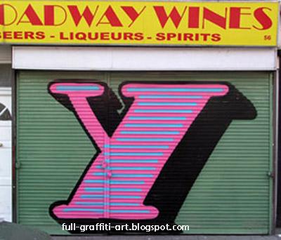 Graffiti Alphabet Letter Y
