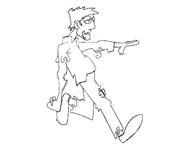 #6 Zombie Coloring Page