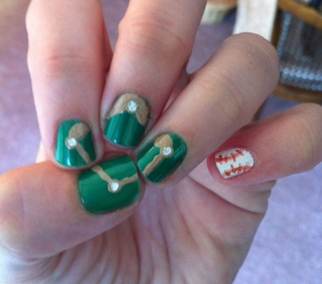 Nail Art History: Miscellaneous Manicures: Baseball Nails