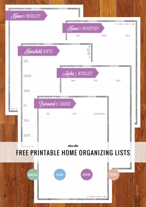 organizing list