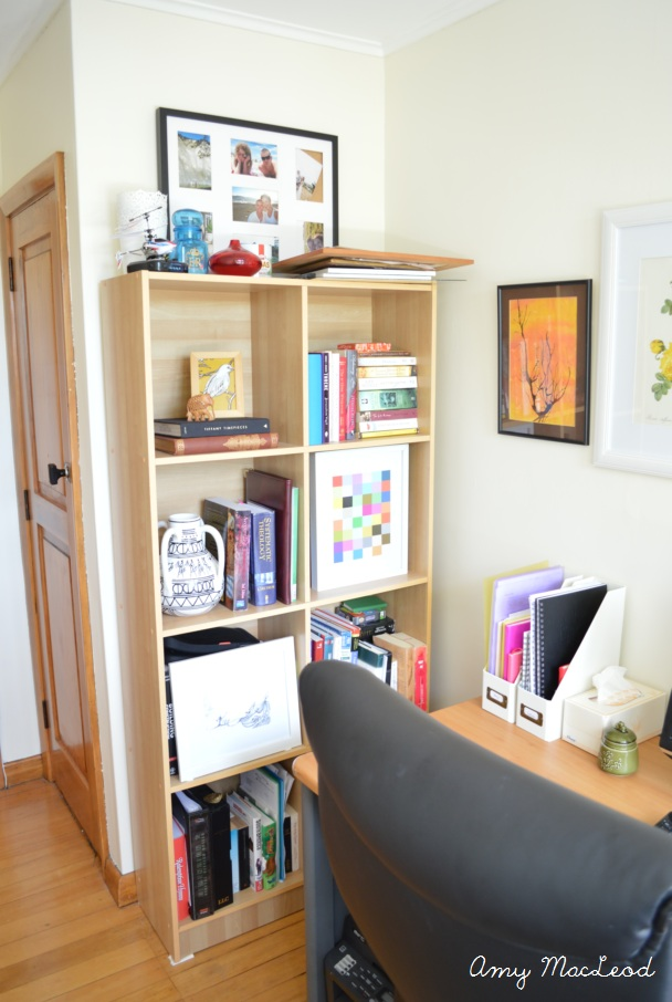 Interior design by Amy MacLeod - bright and light office redo with gallery wall