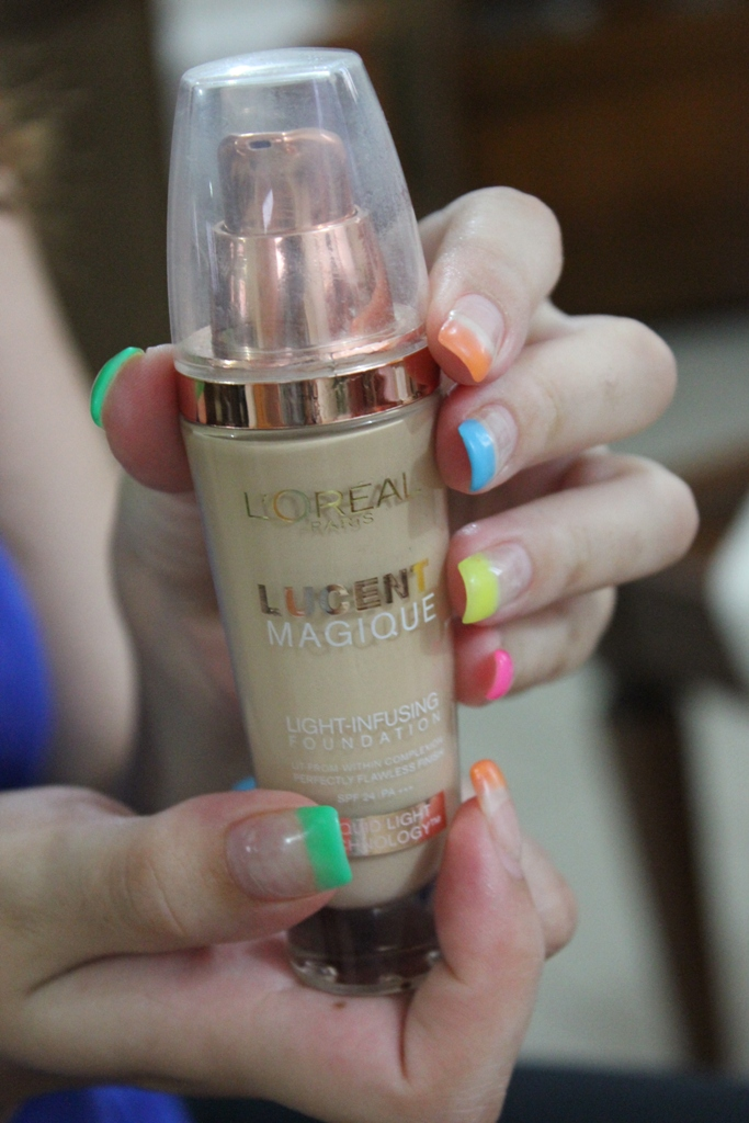 L'oreal Lucent Magique foundation swatches