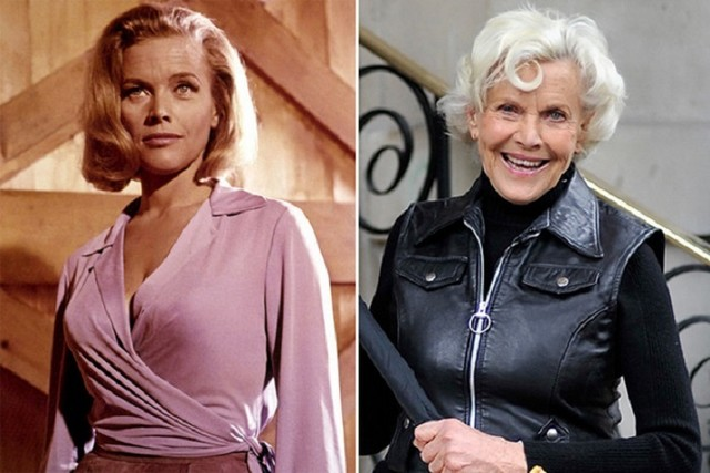 Honor Blackman young and old pictures
