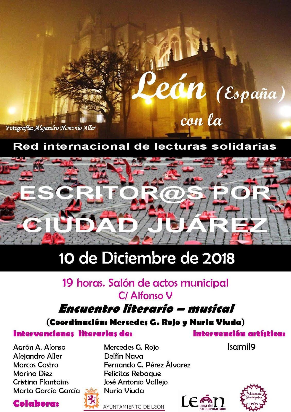 Un año más nos unimos a la red interncional de Escritores por Ciudad Juárez