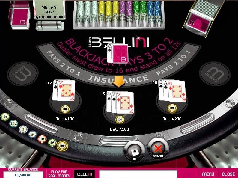 Casino Bellini Blackjack Screen