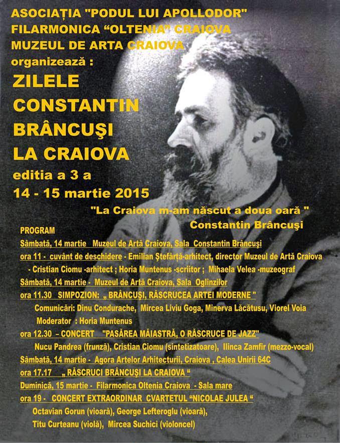 Zilele Constantin Brancusi la Craiova