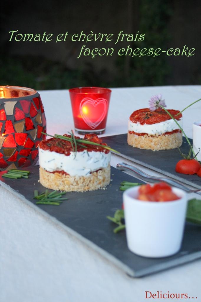deliciours tomates et ch vre frais comme un cheesecake. Black Bedroom Furniture Sets. Home Design Ideas