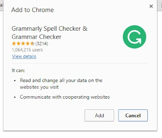 Add Grammarly Extension to Google Chrome