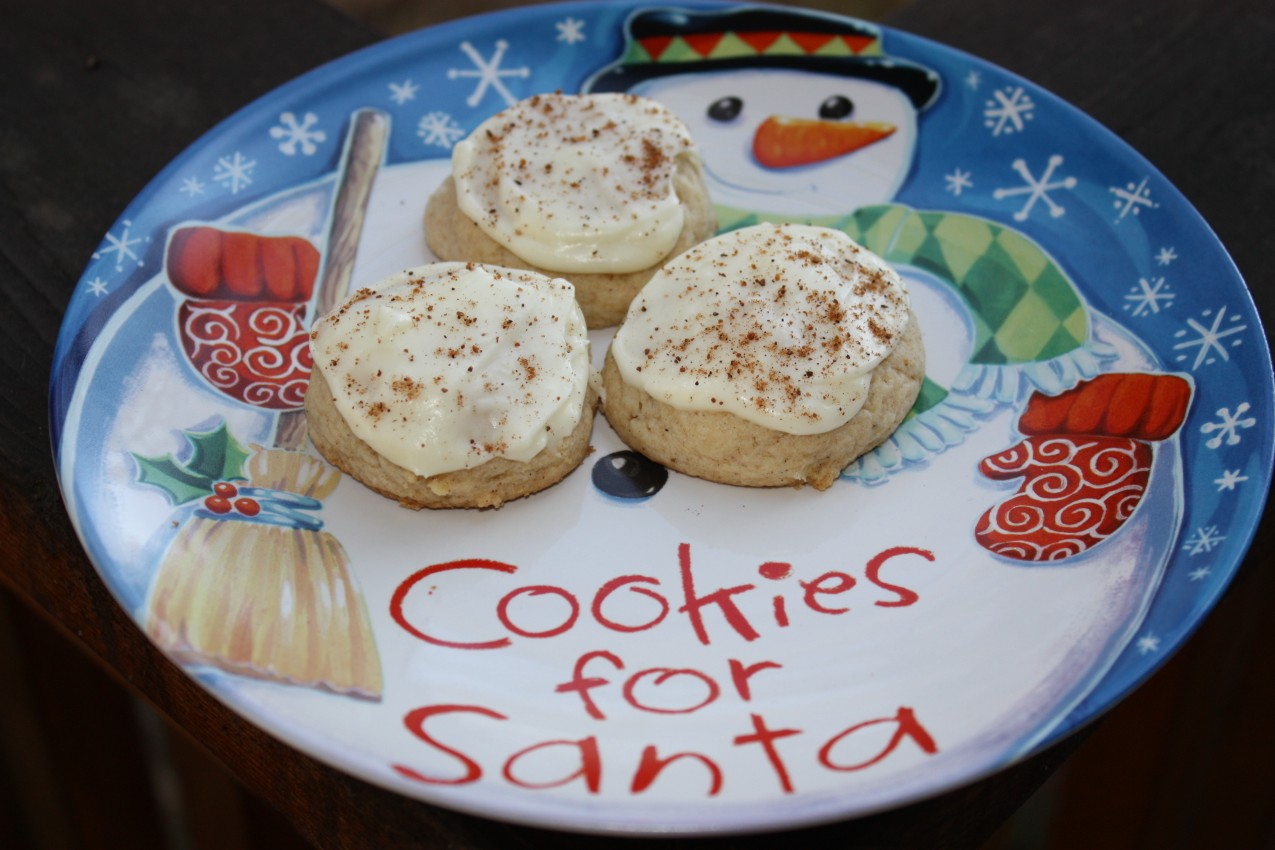 pass the peas, please: mrs. fields iced eggnog cookies
