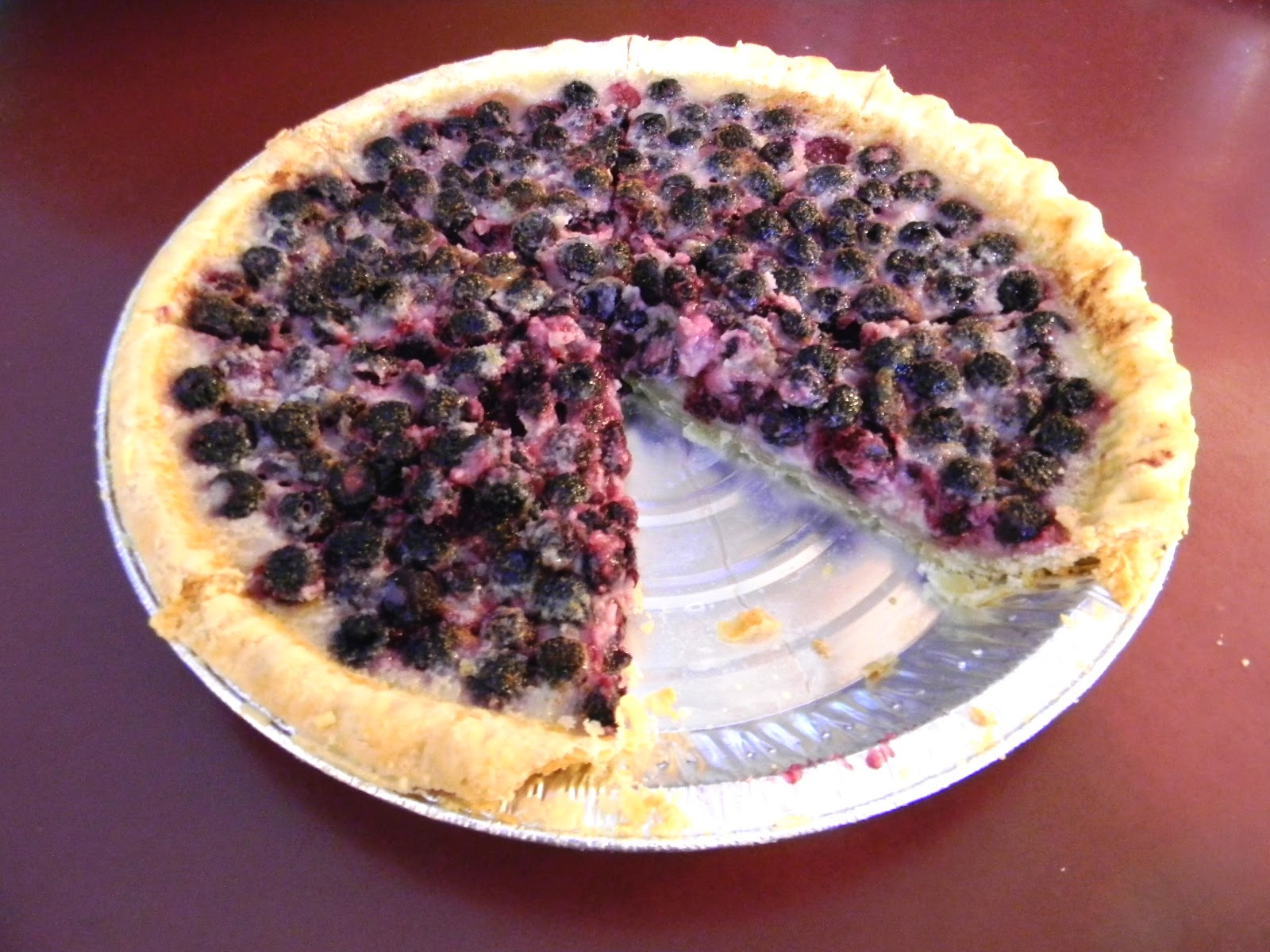 Wallmarks: Black Raspberry Custard Pie with Freshly Picked Berries