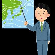 気象予報士のイラスト(男性)