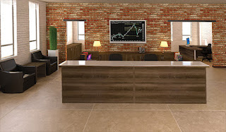 Cherryman Amber Multi User Reception Desk in Walnut