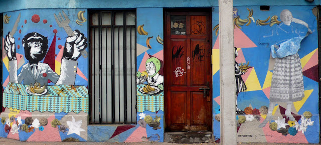 street art in barrio bellavista, santiago de chile
