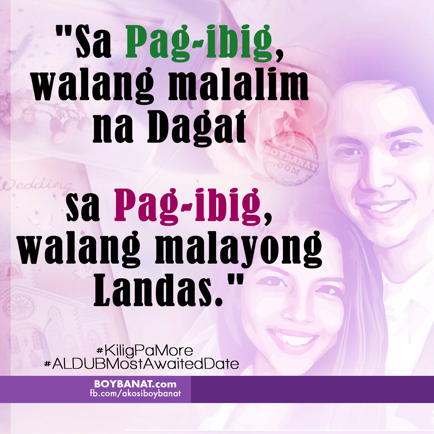 Most Meaningful Quotes 5 Meaningful Love Quotes On Aldub's Most Awaited First Date  Boy