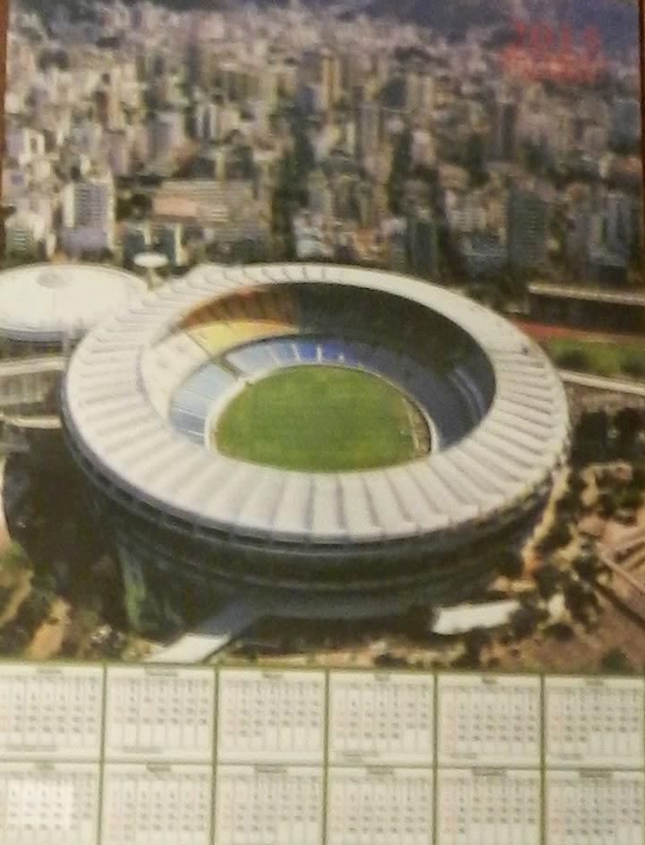 calendário de 2015 com o Maracanã