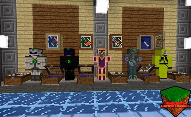 Bibliocraft Mod armaduras