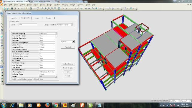 Rangka Struktur Sap 2000 ( Project Desain dan Perhitungan Struktur Gedung )
