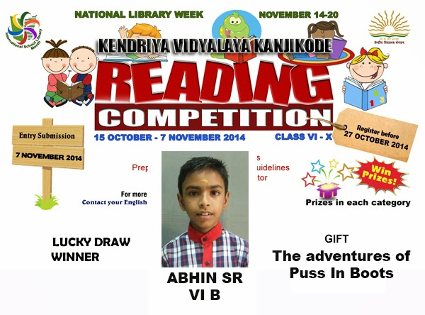 Reading Competition Week 3 - Lucky Winner