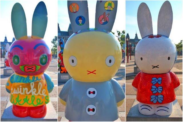 Miffy Art Parade en Museumplein en Amsterdam – Twinkle, twinkle, Little star six suns make my day de Rik Van Iersel – Who am I de Rotraut Susanne Berner – Dick Pluis een ijzeren formule de Jacques Tange