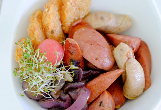 US Potato Safari 3: Chef Sandy Daza Mixed Sausages and Crispy US Potatoes