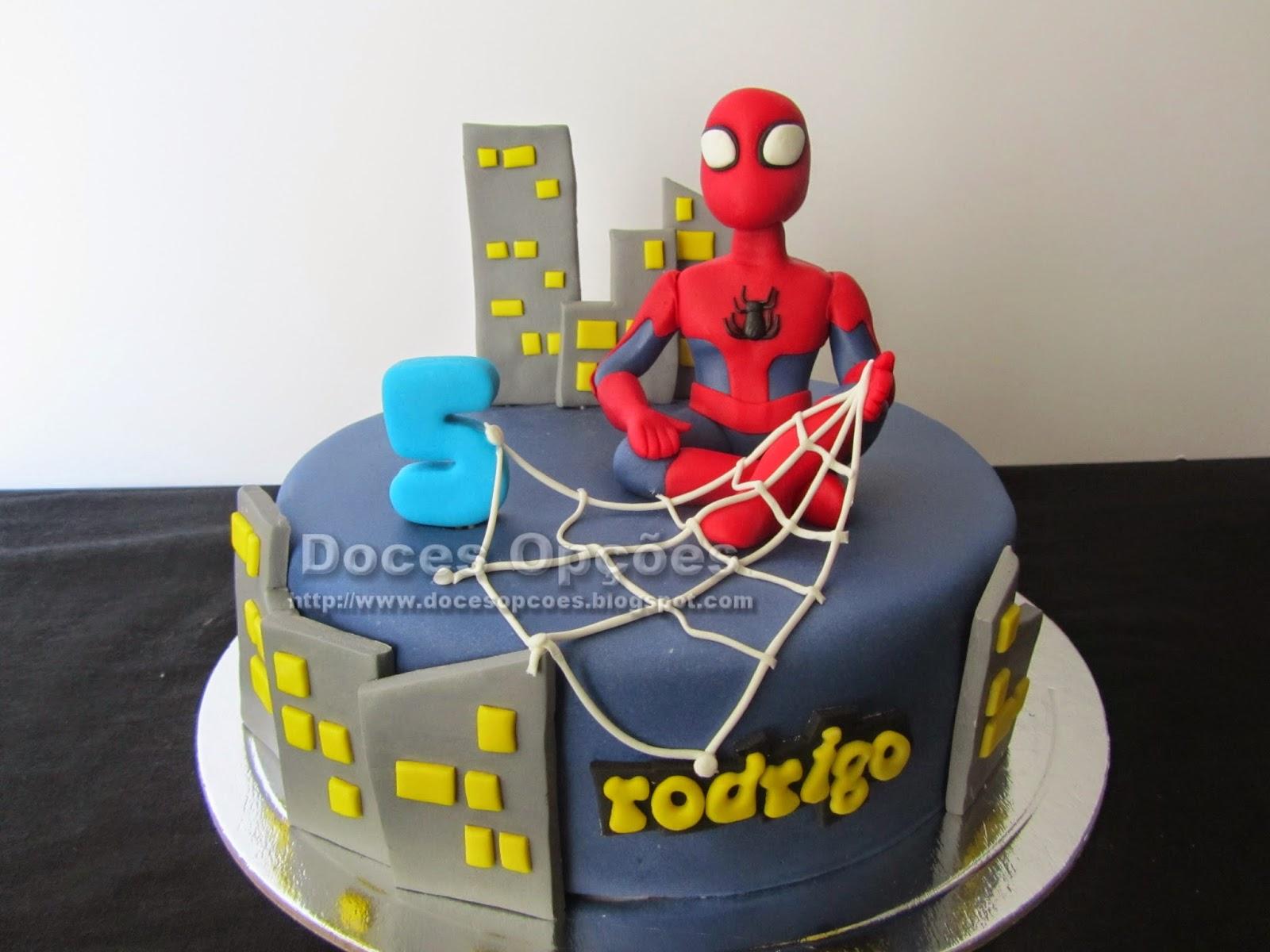 bolo homem aranha doces opções bragança