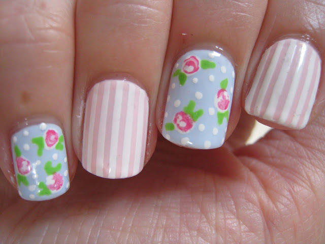 pale-blue-pink-rose-nail-art-Cath-Kidson
