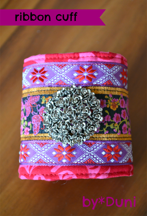DIY Woven Ribbon Cuff Tutorial