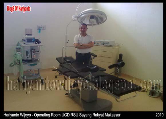 Hariyanto Wijoyo Di Ruang UGD Rumah Sakit Sayang Rakyat - Kota Makassar - Sulawesi Selatan