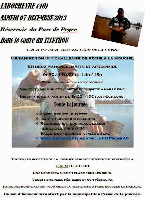 challenge de Pêche Téléthon 2013 à Labouheyre