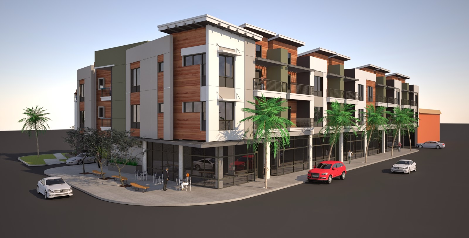 Building Los Angeles Mixed Use Oliver Apartments Rise In