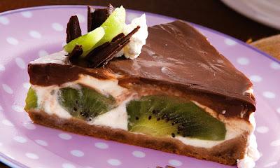 Receita de Torta de chocolate com frutas