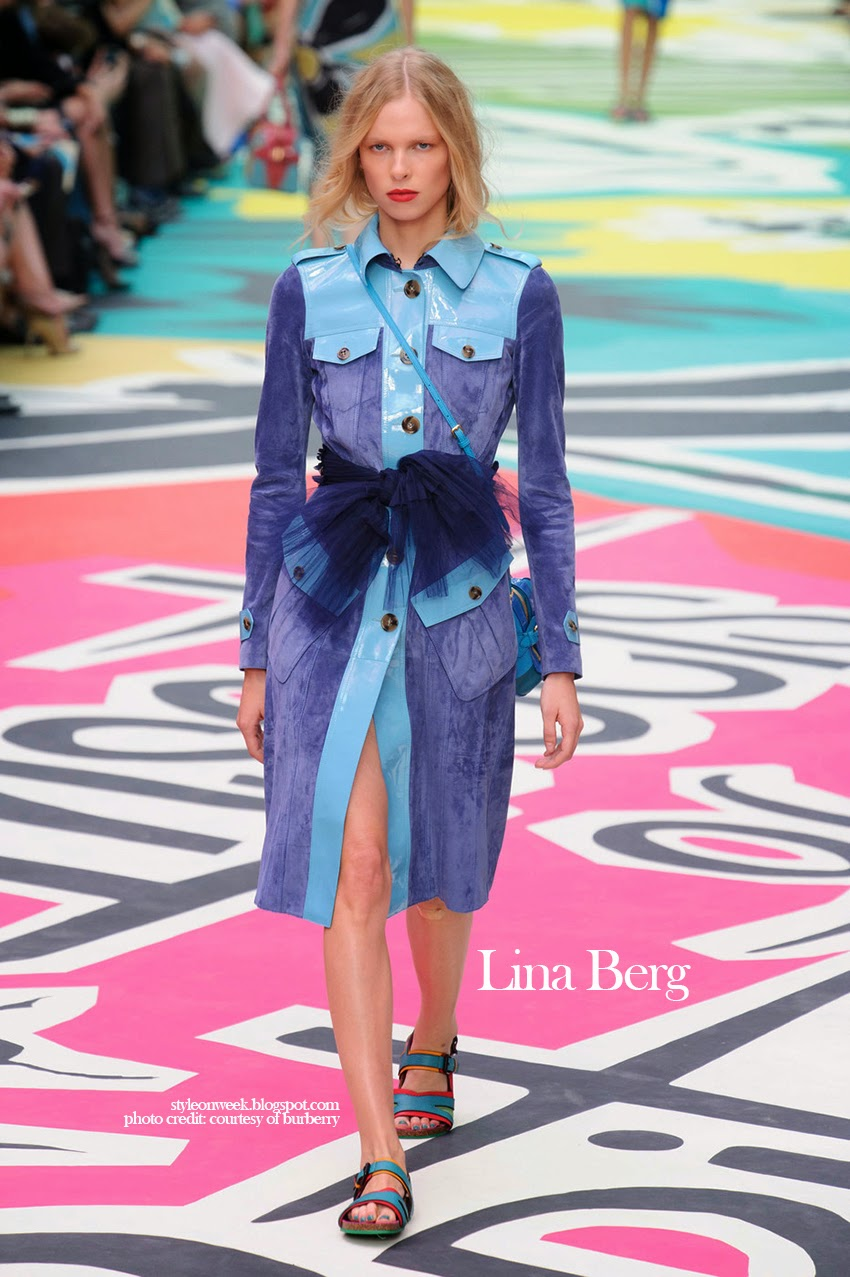 Lina Berg at Burberry Prorsum Womenswear Spring-Summer 2015 Collection Look