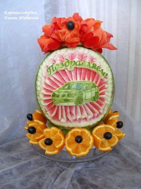 оформление детских праздников фруктовыми композициями карвинг-студия сахалин