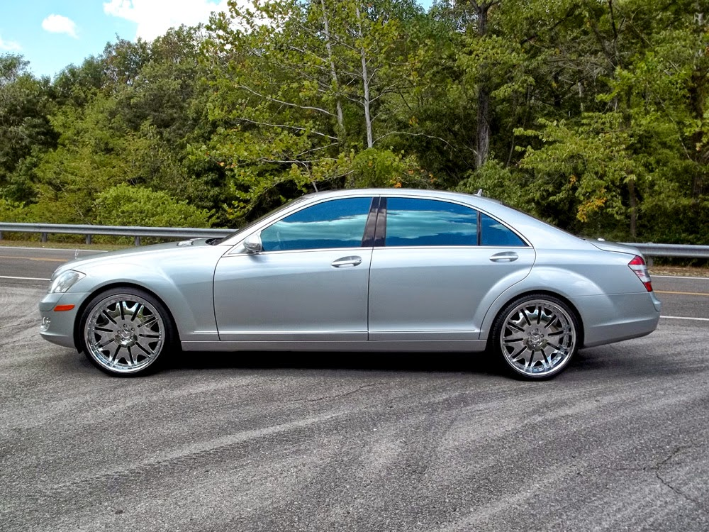 mercedes benz s550 w221 on r22 wheels benztuning