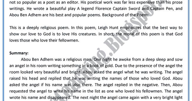 abou ben adhem poem pdf