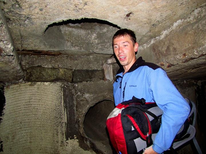 В подземной тоннеле речки Казанки