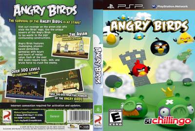 Jogo Angry Birds PSP DVD Capa
