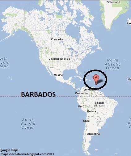 Barbados Mapa - Barbados earth map