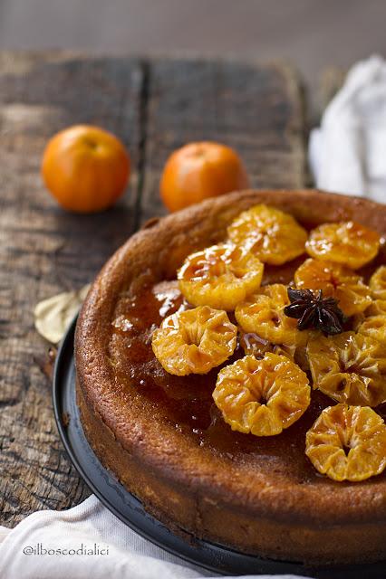torta alla ricotta con clementine caramellate e anice stellato per starbooks