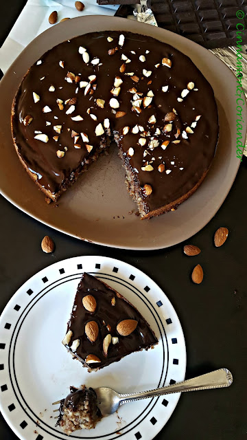 Chocolate Chestnut Almond Torte